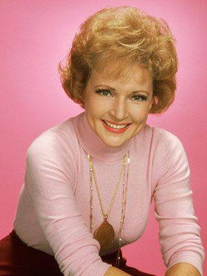 betty white rockin the pink