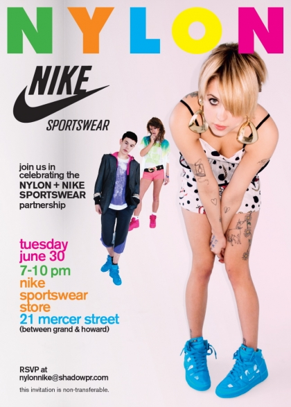 NYLON and NIKE party like its 1999
