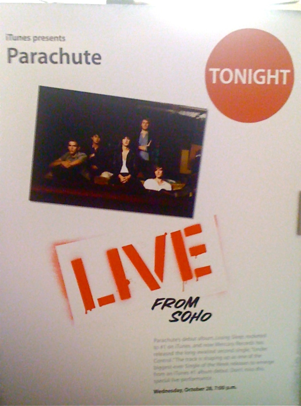 Parachute Live @ Apple