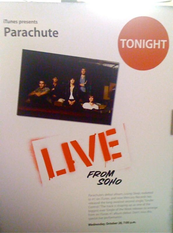 Parachute Live @ Apple